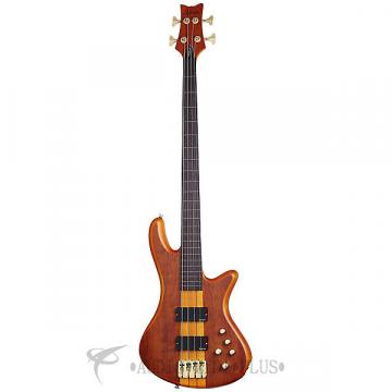 Custom Schecter Stiletto Studio-4 FL Rosewood Fretboaard Electric Bass Honey Satin - 2750 - 839212002720