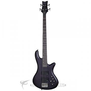 Custom Schecter Stiletto Studio-4 Rosewood FB Electric Bass See-Thru Black Satin - 2711 - 839212008234