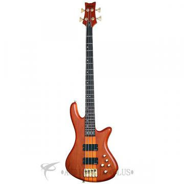 Custom Schecter Stiletto Studio-4 Rosewood Fretboard Electric Bass Honey Satin - 2710 - 839212002683