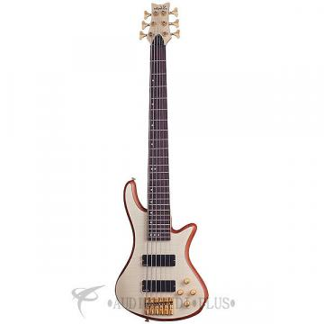 Custom Schecter Stiletto Custom-6 Left Handed Rosewood Electric Bass Natural Satin - 2544 - 839212008203