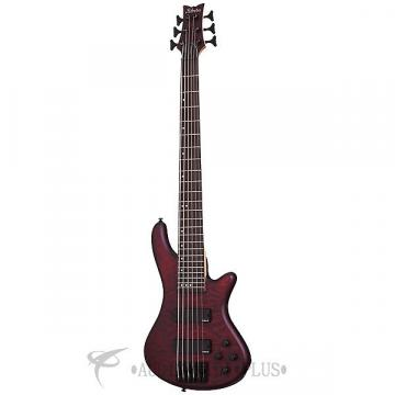 Custom Schecter Stiletto Custom-6 Rosewood Fretboard Electric Bass Vampyre Red Satin - 2539 - 839212008210