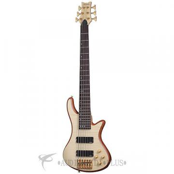 Custom Schecter Stiletto Custom-6 Rosewood Fretboard Electric Bass Natural Satin - 2543 - 839212008197