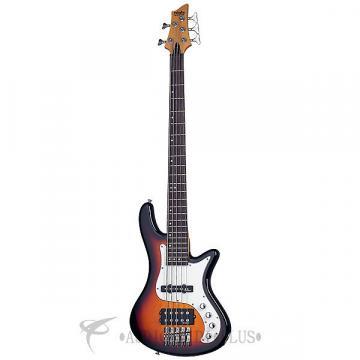 Custom Schecter Stiletto Vintage-5 LH Rosewood Fretboard Electric Bass 3-Tone Sunburst - 2529 - 81544701585