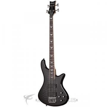 Custom Schecter Stiletto Extreme-4 Rosewood Fretboard Electric Bass See-Thru Black - 2503 - 839212001563