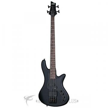 Custom Schecter Stiletto Stealth-4 LH Rosewood Fretboard Electric Bass Satin Black - 2526 - 81544701561