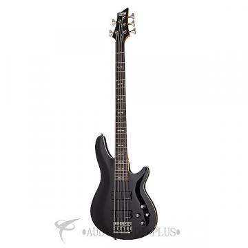 Custom Schecter Omen-5 Rosewood Fretboard Electric Bass Gloss Black - 2093 - 81544703282