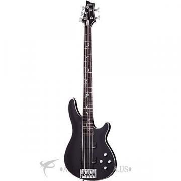 Custom Schecter Damien Platinum-5 Rosewood Fretboard Electric Bass Satin Black - 1201 - 81544706726