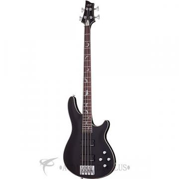 Custom Schecter Damien Platinum-4 Rosewood Fretboard Electric Bass Satin Black - 1200 - 81544706719