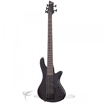 Custom Schecter Stiletto Stealth-5 Rosewood Fretboard Electric Bass Satin Black - 2523 - 81544701530