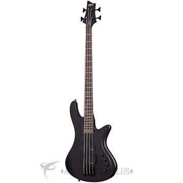 Custom Schecter Stiletto Stealth-4 Rosewood Fretboard Electric Bass Satin Black - 2522 - 81544701523