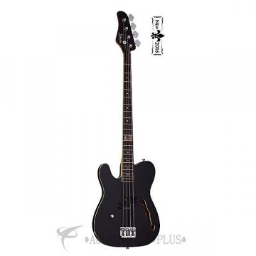 Custom Schecter Dug Pinnick Baron-H Left Hand Rosewood FB Electric Bass Gloss Black - 263 - 815447021620