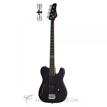Custom Schecter Dug Pinnick Baron-H Rosewood Fretboard Electric Bass Gloss Black - 262 - 815447021491