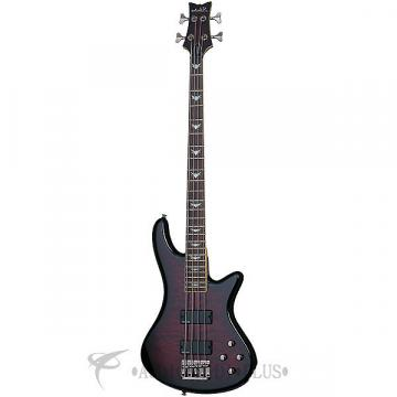 Custom Schecter Stiletto Extreme-4 LH Rosewood Fretboard Electric Bass Black Cherry - 2507 - 839212003833