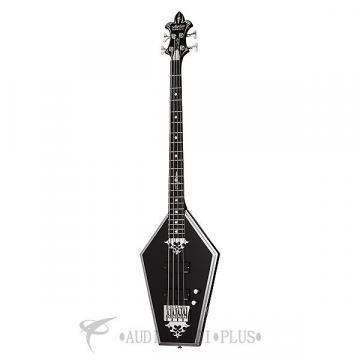 Custom Schecter Sean Yseult Casket Ebony Fretboard Electric Bass Gloss Black - 218 - 81544704715
