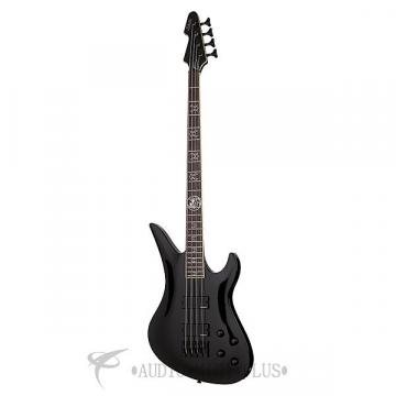 Custom Schecter Dale Stewart Rosewood Fretboard Electric Bass Gloss Black - 217 - 81544702018