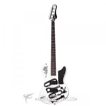 Custom Schecter Simon Gallup Ultra Spitfire Rosewood FB Electric Bass Gloss White - 2263 - 81544703480
