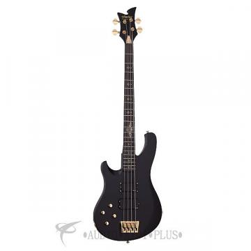 Custom Schecter Johnny Christ Left Handed Ebony Fretboard Electric Bass Satin Black - 212 - 81544705873