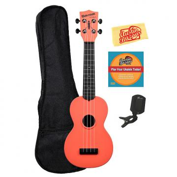 Custom Kala KA-SWB-RD Waterman Soprano Ukulele - Tomato Red Matte w/ Gig Bag