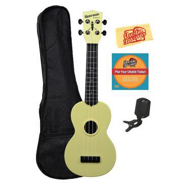 Custom Kala KA-SWB-YL Waterman Soprano Ukulele - Pale Yellow Matte w/ Gig Bag