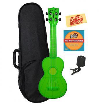 Custom Kala KA-SWF-GN Waterman Soprano Ukulele - Fluorescent Green Gloss w/ Hard Case
