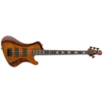 Custom ESP LTD STREAM-1004 FM WBR 4-String Series Rosewood Fingerboard Electric Bass Guitar - Walnut Brown Finish (LSTREAM1004FMWBR)