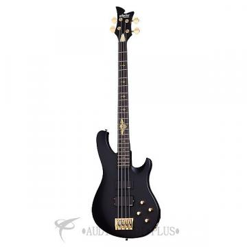 Custom Schecter Johnny Christ Ebony Fretboard 4 String Electric Bass Satin Black - 213 - 81544705866