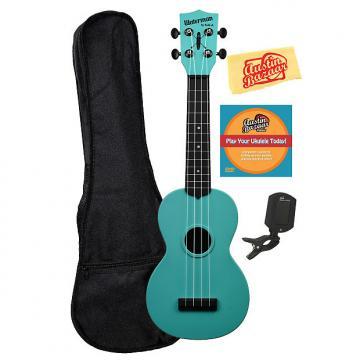 Custom Kala KA-SWG-BL Waterman Soprano Ukulele - Glow-in-the-Dark Blue w/ Gig Bag