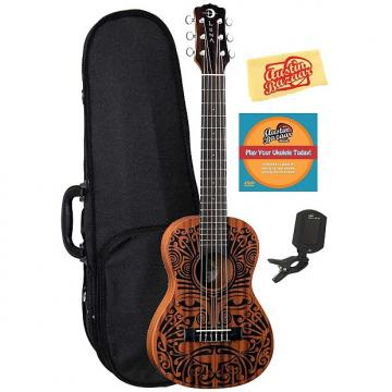 Custom Luna Tribal 6-String Ukulele w/ Hard Case