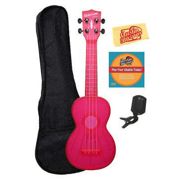 Custom Kala KA-SWF-PK Waterman Soprano Ukulele - Fluorescent Pink Gloss w/ Gig Bag