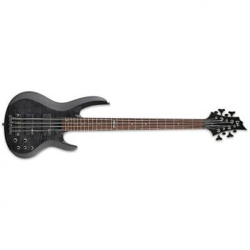 Custom ESP LTD B-208 B Series Bass Guitar 8-string See Thru Black Flamed Maple Top
