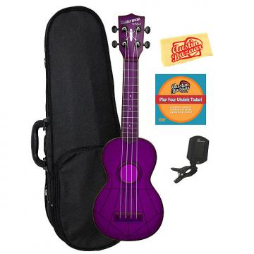Custom Kala KA-SWF-PL Waterman Soprano Ukulele - Fluorescent Purple Gloss w/ Hard Case