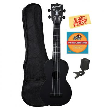 Custom Kala KA-SWB-BK Waterman Soprano Ukulele - Black Matte w/ Gig Bag