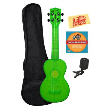 Custom Kala KA-SWF-GN Waterman Soprano Ukulele - Fluorescent Green Gloss w/ Gig Bag