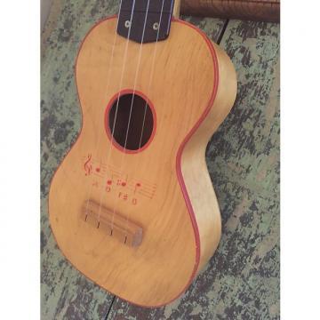 Custom 1950s Harmony Soprano Ukulele - Natural with Stencil