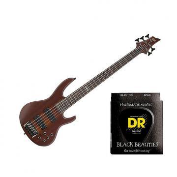 Custom ESP LTD D-5 Natural Satin w/2 Sets DR Strings BKB5-45