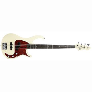 Custom Peavey Milestone 4-String Maple Neck Beginner Starter Electric Bass Guitar Ivory