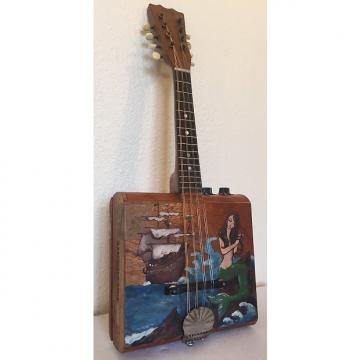 "Custom Vintage Cigarbox Mandolin With Stella Neck Junk Yard Dog Number 10 2016 ""the Mermaid"""