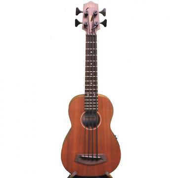 Custom Kala Solid Mahogany U-Bass & Case, Custom Shadow Electronics, UBASS-SMHG-FSWCASE