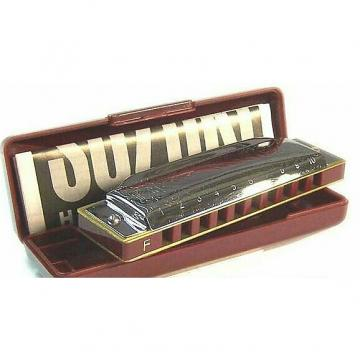 Custom Suzuki 1072 FOLKMASTER 10-Hole Diatonic Harmonica, Key of F. Brand New with Full Warranty!