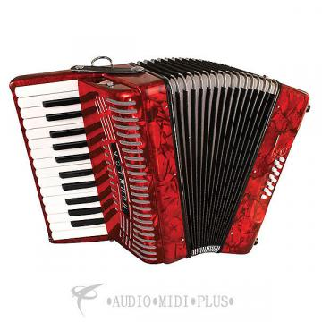 Custom Hohner 12 Bass Entry Level Accordion Red - 1303-RED-U - 00048667345829