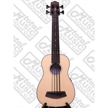 Custom Kala LEFT HAND A/E U-Bass w/ Gig Bag, Solid Spruce Top, Fretless