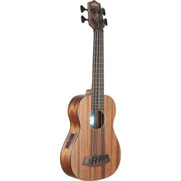 Custom Kala All Solid Mahogany Fretless A/E U-Bass Ukulele w/ Case, UBASS-SMHG-FLWCASE