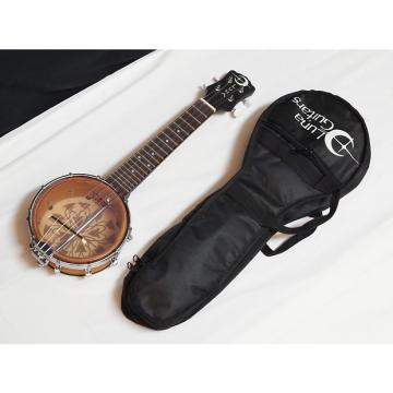 """Custom LUNA Kalo 6"""" Soprano Banjolele Banjo UKULELE new w/ Gig Bag - Taro Laser Etch"""