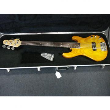 Custom G&L L-1505 5 string bass with OHS Case Amber