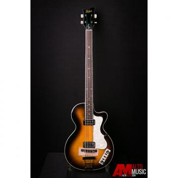 Custom Hofner Contemporary Singlecut Club Bass - Sunburst w/ Case