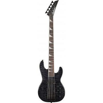 Custom Jackson JS3VQM Concert™ Bass - Rosewood Fingerboard - Transparent Black