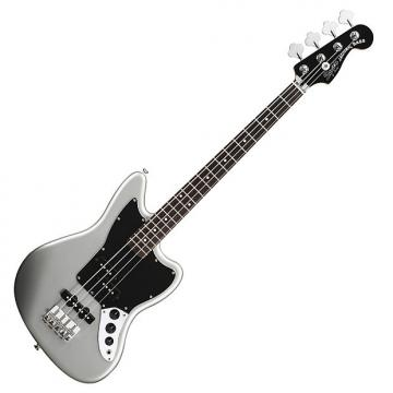 Custom Squier Vintage Modified Jaguar Bass Special SS (Short Scale) with Rosewood Fingerboard - Silver