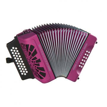 Custom Hohner Compadre EAD Violet Accordion Acordeon +GigBag, Straps, Shirt, BackPad - FREE FedEx 3 Day Air