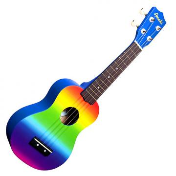 Custom Amahi DDUK1 Soprano Ukulele with Gradient Rainbow Design