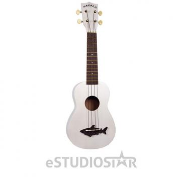 Custom Kala MK-SS/WHT Makala Shark Soprano Ukulele Great White Shark - Used Open Box